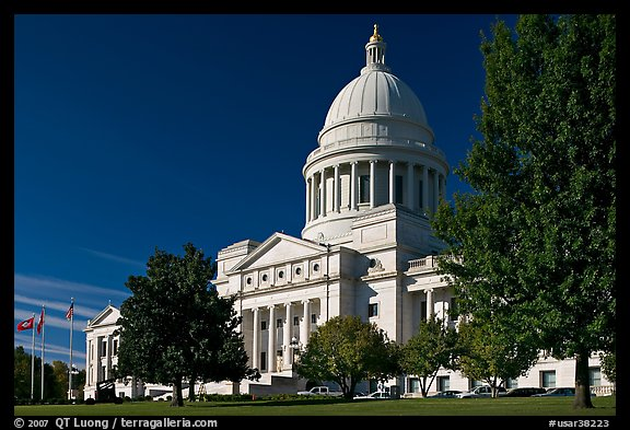 Arkansas State Capitol. Little Rock, Arkansas, USA (color)