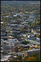 City main street seen from above. Hot Springs, Arkansas, USA ( color)