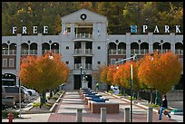Parking structure and fall colors. Hot Springs, Arkansas, USA