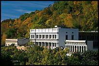 Historic buildings and trees in fall foliage. Hot Springs, Arkansas, USA