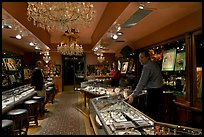 Jewelry and gallery during the gallery night. Hot Springs, Arkansas, USA