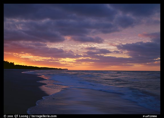 Gulf beach at sunrise. Sanibel Island, Florida, USA (color)