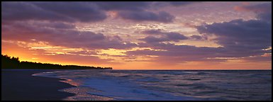 Seashore at sunrise, Sanibel Island. Florida, USA (Panoramic color)