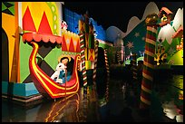 Indoor boat ride, Magic Kingdom, Walt Disney World. Orlando, Florida, USA (color)