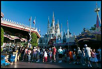 People lining up, Magic Kingdom, Walt Disney World. Orlando, Florida, USA (color)
