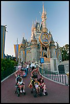 Mothers pushing strollers, Magic Kingdom. Orlando, Florida, USA (color)
