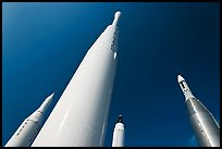 Space rockets, NASA. Cape Canaveral, Florida, USA (color)