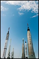 NASA rockets, Kennedy Space Centre. Cape Canaveral, Florida, USA (color)