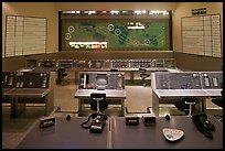 Control room, NASA, Kennedy Space Center. Cape Canaveral, Florida, USA (color)
