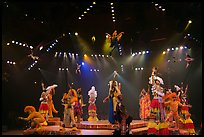 Colorful cast of characters, Circus show, Walt Disney World. Orlando, Florida, USA (color)