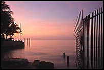 Sunrise near  Southermost point in the continental US. Key West, Florida, USA (color)