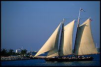 Historic sailboat. Key West, Florida, USA (color)
