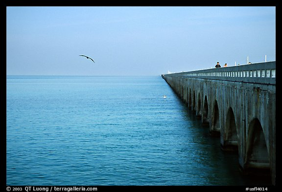 Old Seven-mile bridge. The Keys, Florida, USA (color)