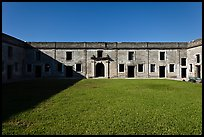 Interior courtyard, Castillo de San Marcos National Monument. St Augustine, Florida, USA