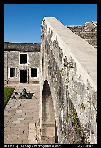 Interior wall, Castillo de San Marcos National Monument. St Augustine, Florida, USA (color)
