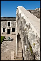 Interior wall, Castillo de San Marcos National Monument. St Augustine, Florida, USA ( color)