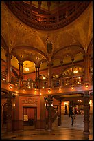 Lobby and rotunda, Flagler College. St Augustine, Florida, USA ( color)