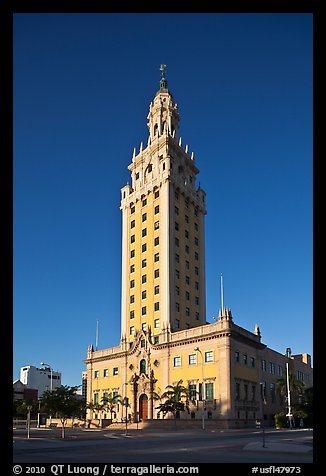 Freedom Tower, memorial to Cuban immigration, Miami. Florida, USA (color)