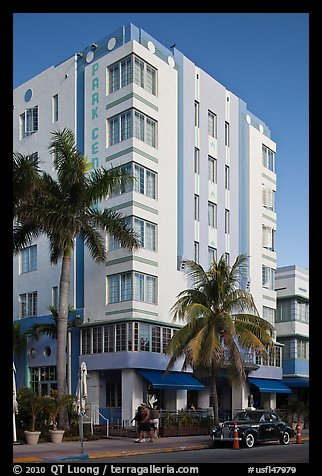 Art Deco Style Hotel, South Beach, Miami Beach. Florida, USA (color)