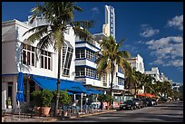 Art Deco District, Miami Beach. Florida, USA (color)