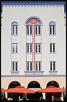 Art Deco hotel facade, Miami Beach. Florida, USA ( color)