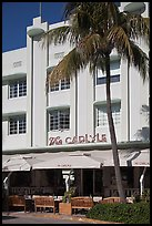 Carlyle Hotel, South Beach district, Miami Beach. Florida, USA (color)