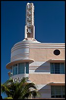Deco-style spire on top of Essex hotel, Miami Beach. Florida, USA ( color)
