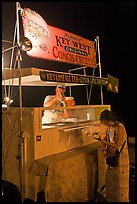 Food stall selling conch fritters on Mallory Square. Key West, Florida, USA ( color)