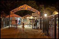 Mallory Square shops at night. Key West, Florida, USA (color)