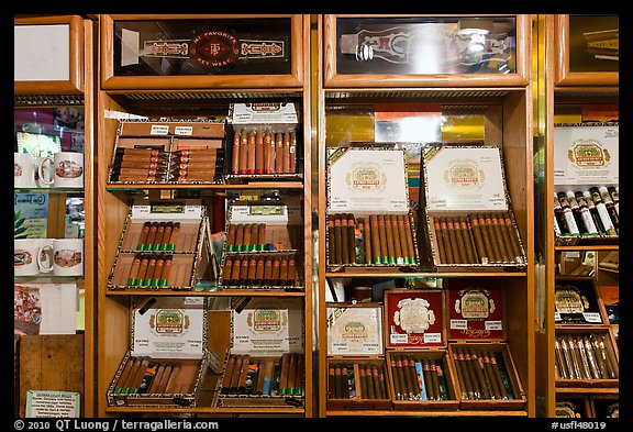 Cuban cigars for sale, Mallory Square. Key West, Florida, USA (color)