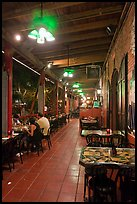 Cuban restaurant at night, Mallory Square. Key West, Florida, USA ( color)