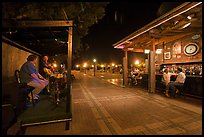 Salsa musicians and bar at night, Mallory Square. Key West, Florida, USA ( color)