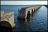Abandonned Bridge, Sugarloaf Key. The Keys, Florida, USA (color)