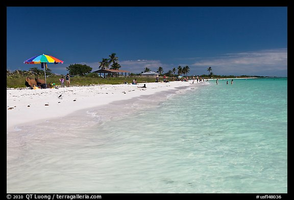 Turquoise waters, Sandspur Beach, Bahia Honda State Park. The Keys, Florida, USA (color)