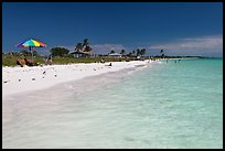 Turquoise waters, Sandspur Beach, Bahia Honda State Park. The Keys, Florida, USA ( color)