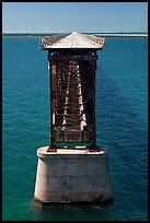 Old bridge in Bahia Honda Channel. The Keys, Florida, USA (color)