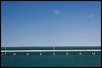 Highway bridge between Bahia Honda and Summerland Keys. The Keys, Florida, USA (color)