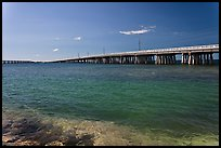 Old and new bridges, Bahia Honda Channel. The Keys, Florida, USA (color)