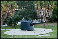 Artillery turret, Fort De Soto Park. Florida, USA ( color)