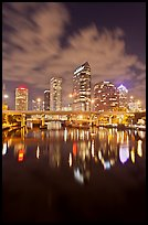 Downtown Tampa skyline at night, Tampa. Florida, USA ( color)