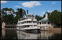 Riverboat, Magic Kingdom, Walt Disney World. Orlando, Florida, USA (color)