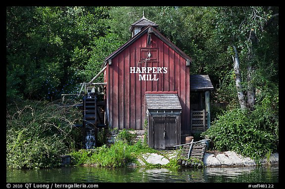 Harpers Mill, Magic Kingdom, Walt Disney World. Orlando, Florida, USA
