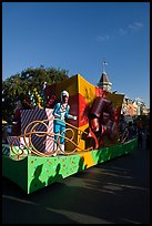 Parade float on Main Street, Magic Kingdom, Walt Disney World. Orlando, Florida, USA (color)