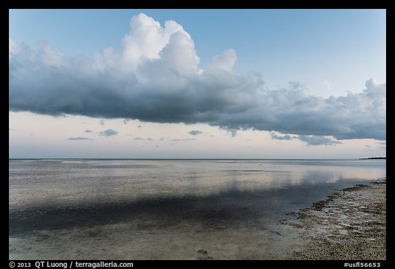 Thunderstorm clouds at sunset, Little Duck Key. The Keys, Florida, USA (color)