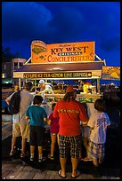Key lime and conch fritters food stand at night. Key West, Florida, USA ( color)