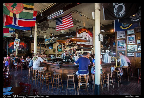 Inside Sloppy Joes. Key West, Florida, USA (color)