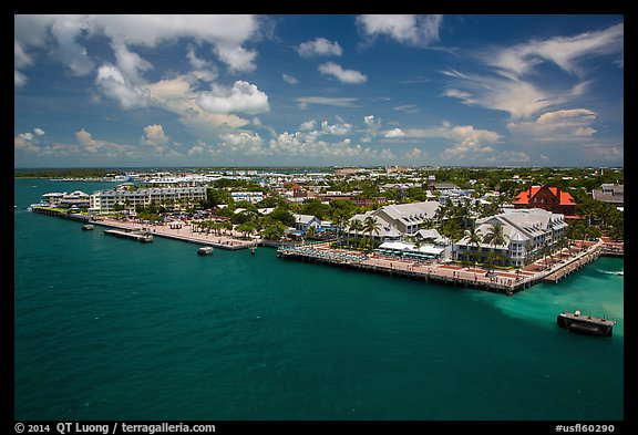 Waterfront. Key West, Florida, USA (color)