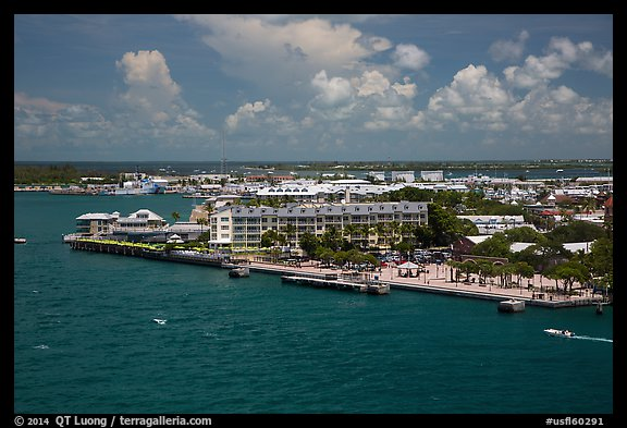 Mallory Square from above. Key West, Florida, USA (color)