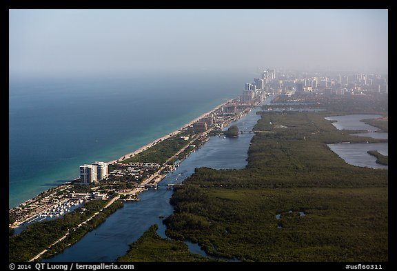 Aerial view of Fort Lauderdale Coast. Florida, USA (color)