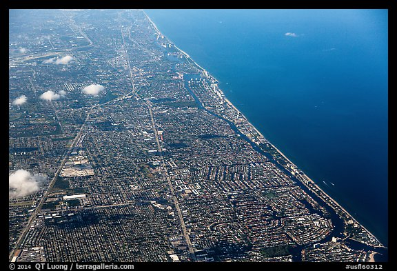 Aerial view of Fort Lauderdale. Florida, USA (color)